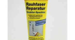 Reparatur-Spachtelmasse Test